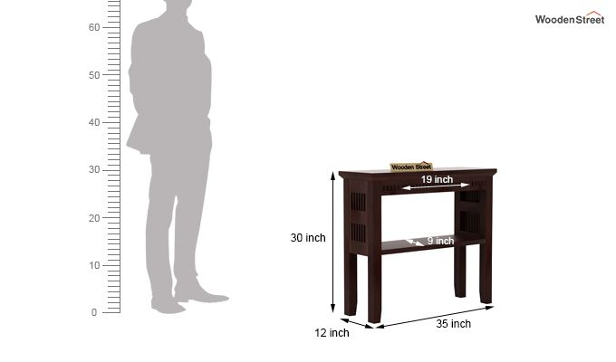 Rainer Console Table (Walnut Finish)-5