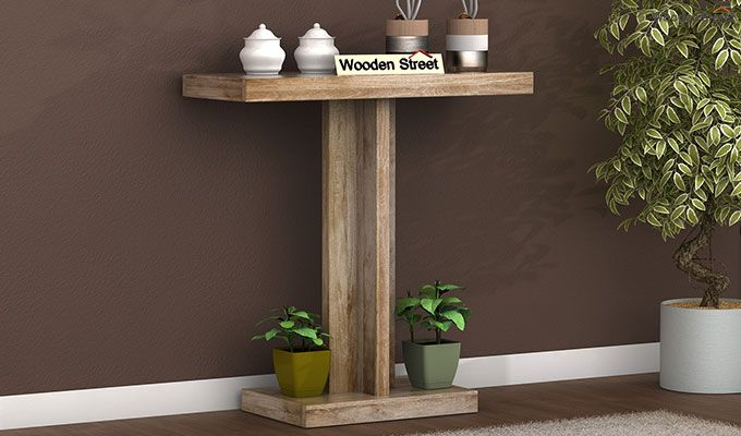 Rolan Console Table (Natural Finish)-1