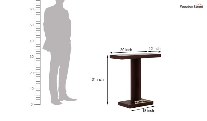 Rolan Console Table (Walnut Finish)-6