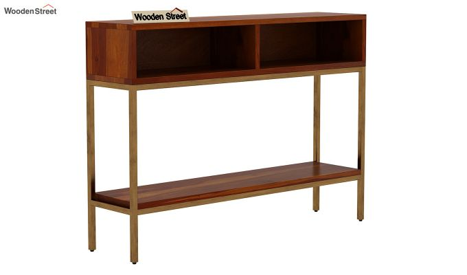 Sapphire Console Table (Honey Finish)-3