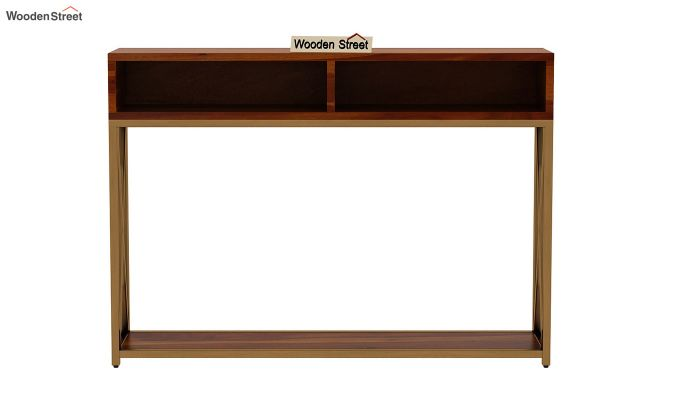 Sapphire Cross Console Table (Honey Finish)-4