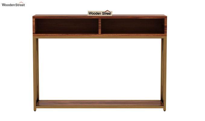 Sapphire Cross Console Table (Teak Finish)-4