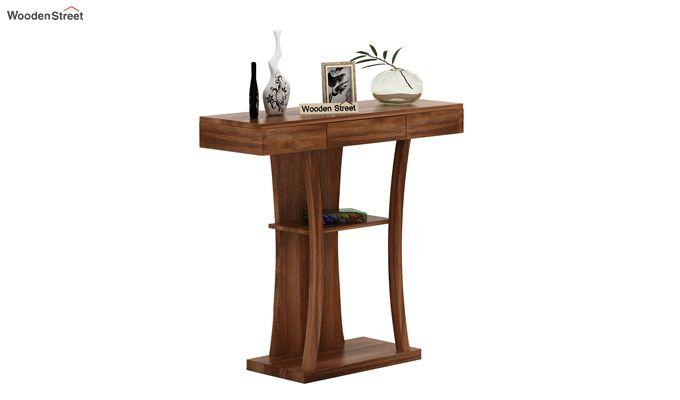 Sirin Console Table (Teak Finish)-1