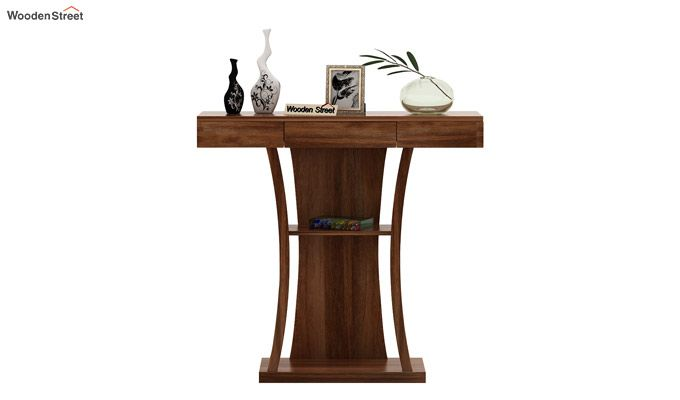Sirin Console Table (Teak Finish)-2
