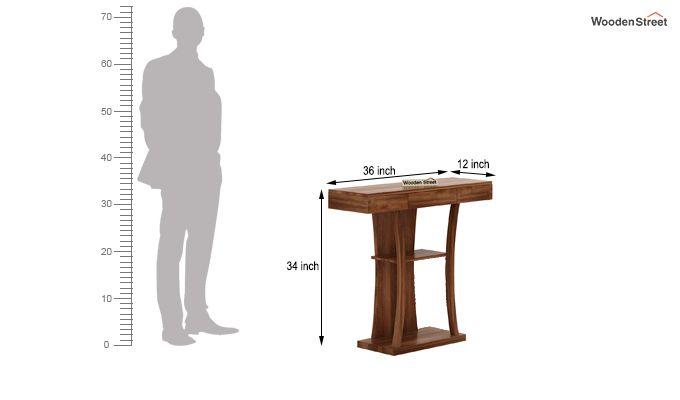 Sirin Console Table (Teak Finish)-5