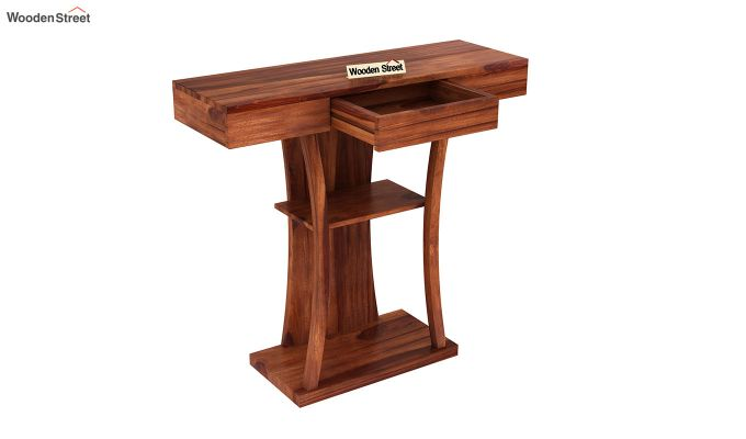 Sirin Console Table (Honey Finish)-4