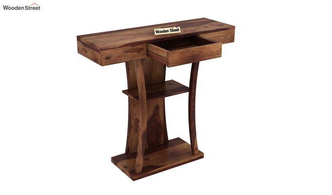 Sirin Console Table (Teak Finish)-4