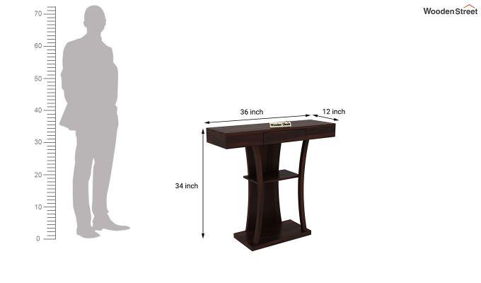 Sirin Console Table (Walnut Finish)-5