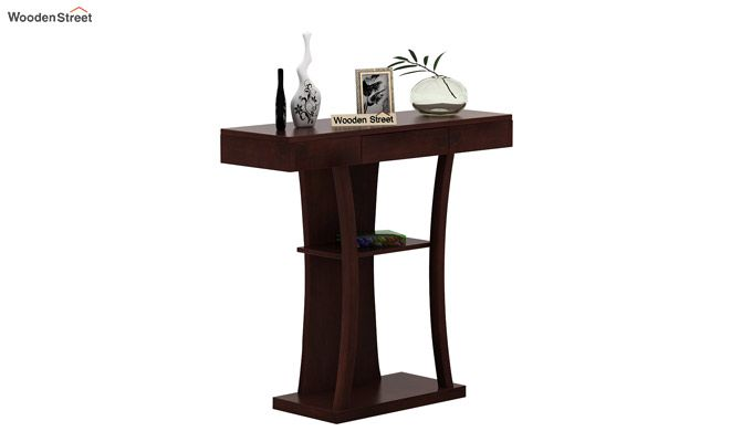 Sirin Console Table (Walnut Finish)-2
