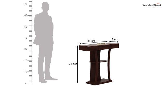 Sirin Console Table (Walnut Finish)-6