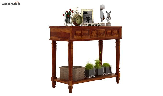 Smith Console Table (Honey Finish)-1