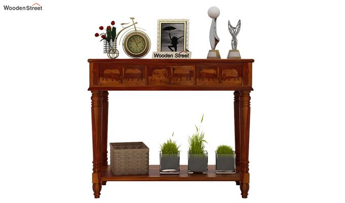 Smith Console Table (Honey Finish)-2