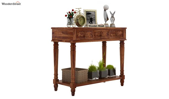 Smith Console Table (Teak Finish)-1