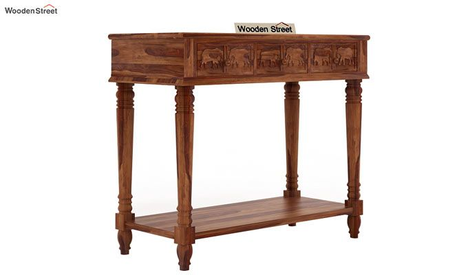 Smith Console Table (Teak Finish)-3