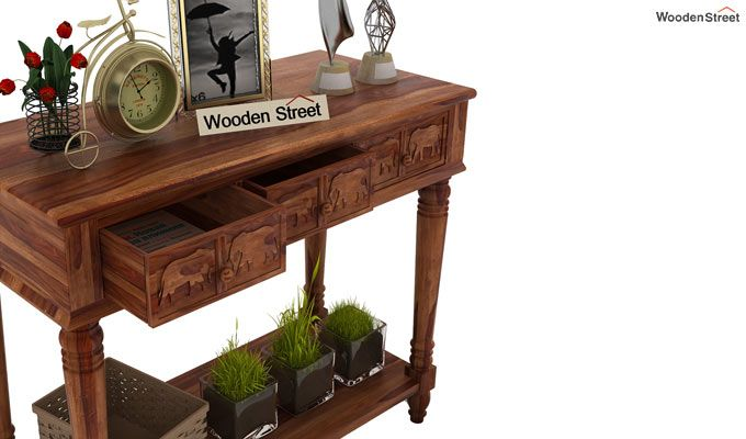Smith Console Table (Teak Finish)-4