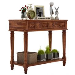 Smith Console Table (Teak Finish)