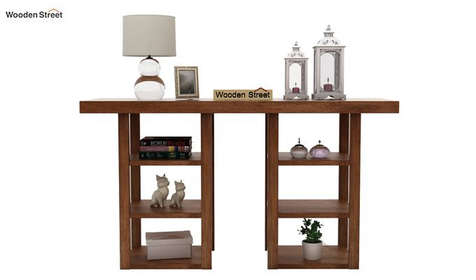 Stanford Console Table (Teak Finish)-2