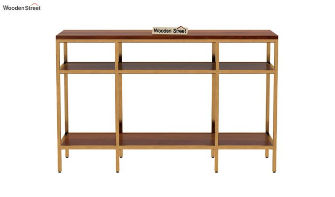 Stilt Console Table (Honey Finish)-4