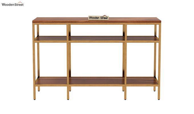 Stilt Console Table (Teak Finish)-4