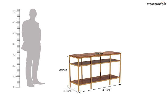 Stilt Console Table (Teak Finish)-5