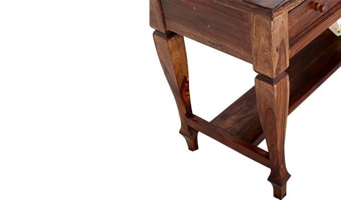 Sylvia Console Table (Teak Finish)-11