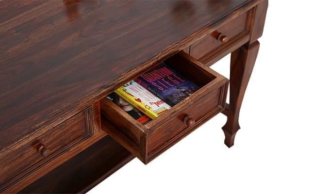 Sylvia Console Table (Teak Finish)-12