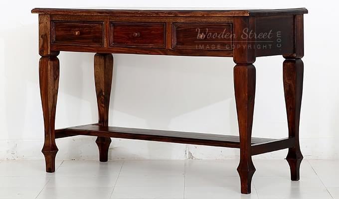 Sylvia Console Table (Teak Finish)-4