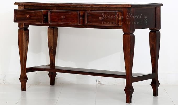 Sylvia Console Table (Teak Finish)-6