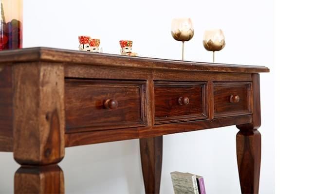 Sylvia Console Table (Teak Finish)-9