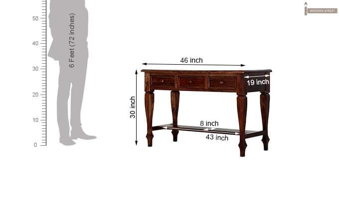 Sylvia Console Table (Teak Finish)-13