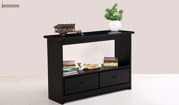 Tulip Console Table (Black Finish)-1