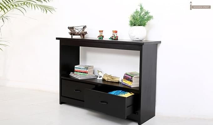 Tulip Console Table (Black Finish)-2