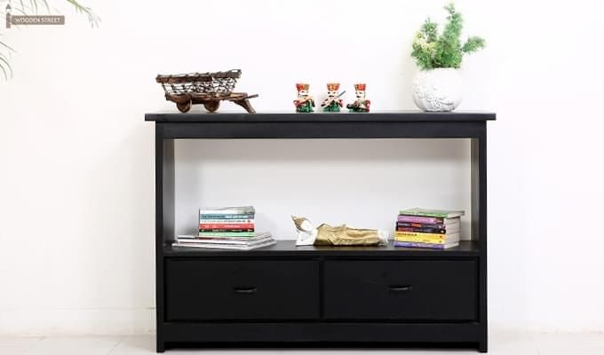 Tulip Console Table (Black Finish)-3