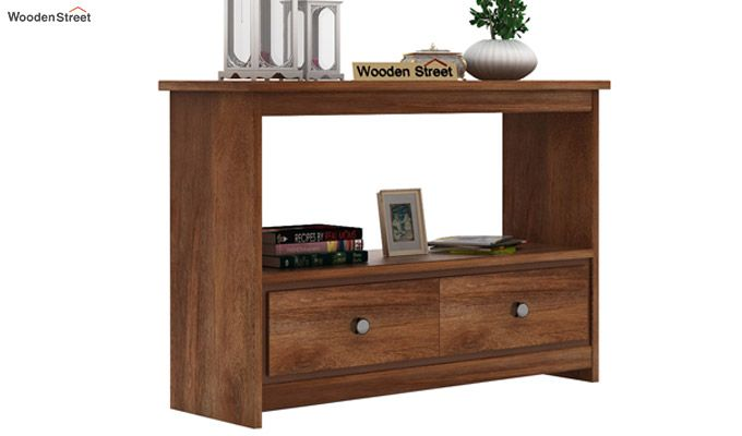 Tulip Console Table (Teak Finish)-2