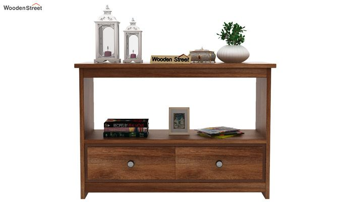 Tulip Console Table (Teak Finish)-3