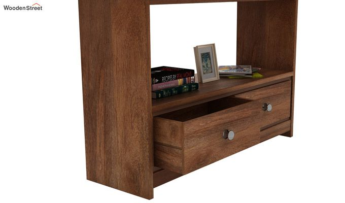 Tulip Console Table (Teak Finish)-4