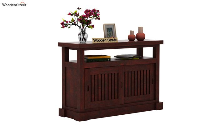 Vettori Console Table (Mahogany Finish)-1