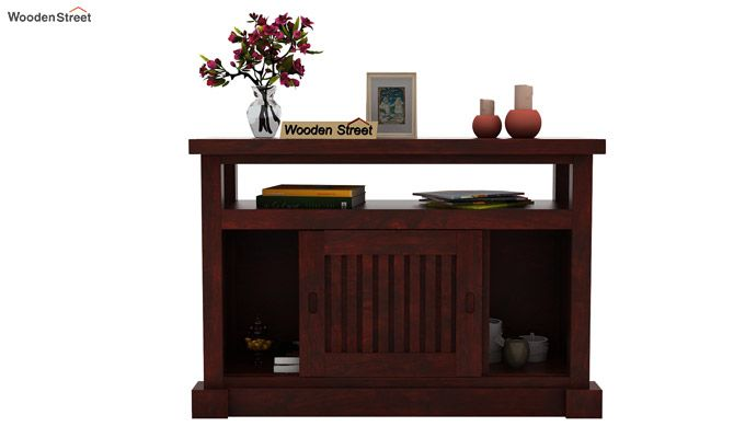 Vettori Console Table (Mahogany Finish)-3