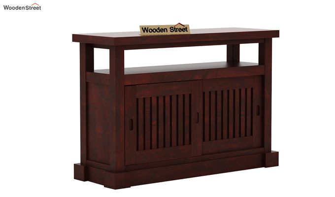 Vettori Console Table (Mahogany Finish)-4