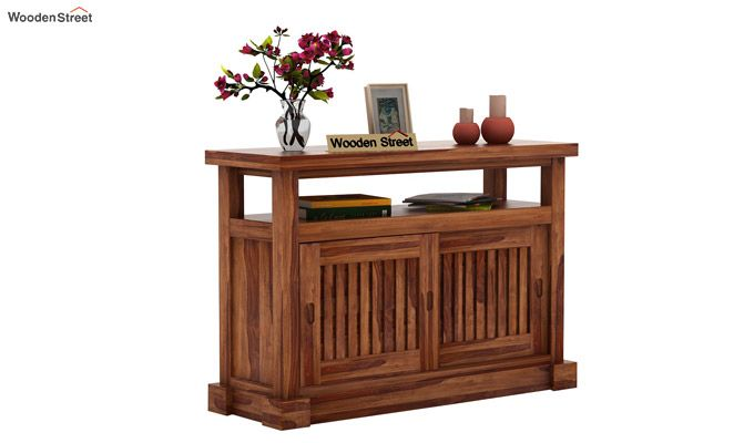 Vettori Console Table (Teak Finish)-2