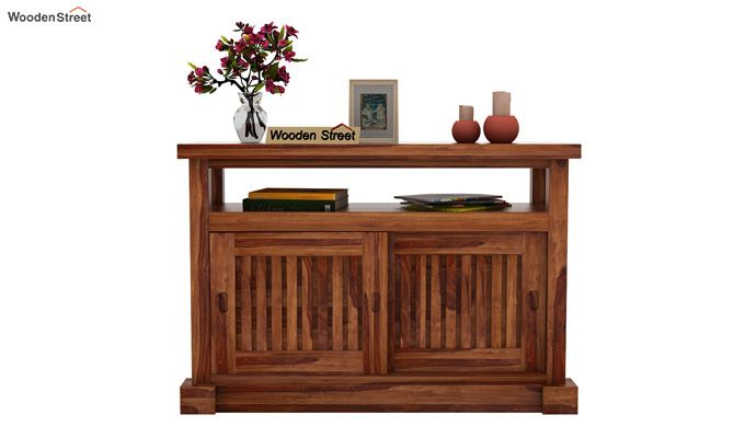 Vettori Console Table (Teak Finish)-3