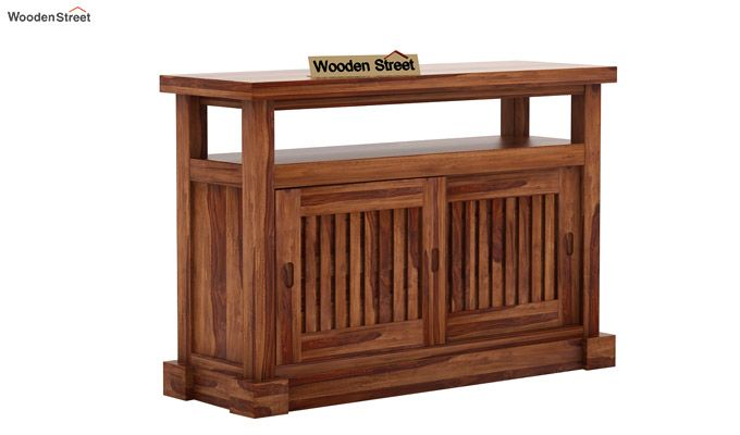 Vettori Console Table (Teak Finish)-5
