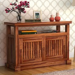Vettori Console Table (Teak Finish)