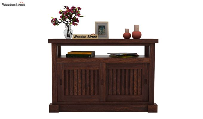 Vettori Console Table (Walnut Finish)-2