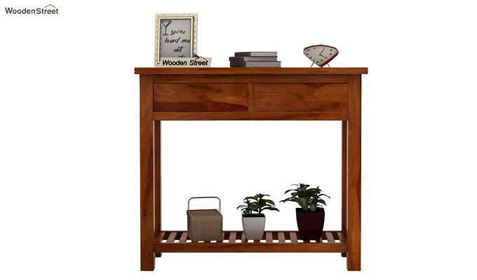 Wales Console Table (Honey Finish)-2