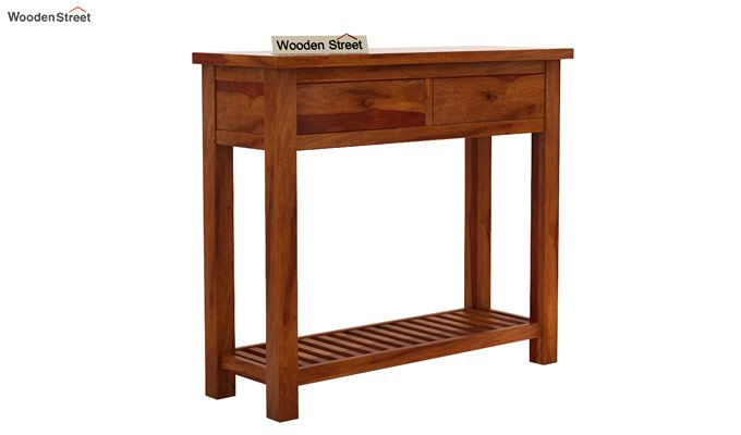 Wales Console Table (Honey Finish)-3