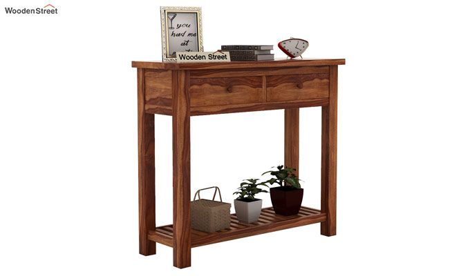 Wales Console Table (Teak Finish)-2