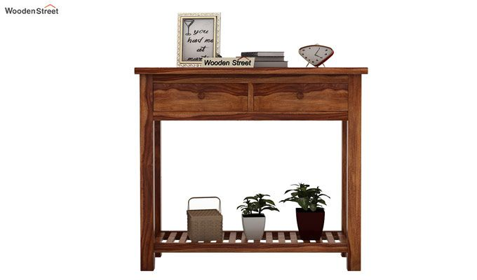 Wales Console Table (Teak Finish)-3