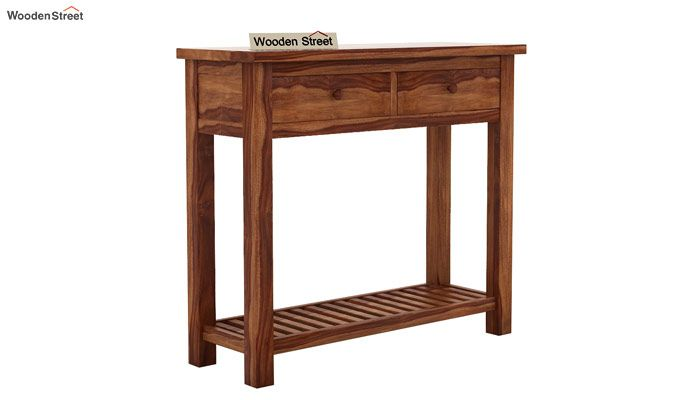 Wales Console Table (Teak Finish)-4