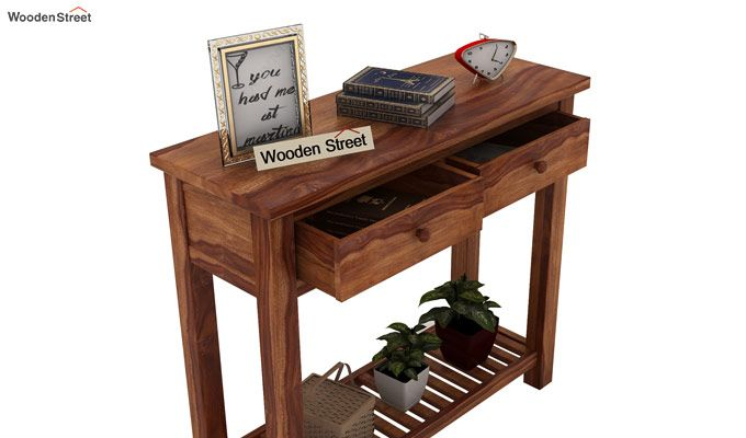 Wales Console Table (Teak Finish)-5